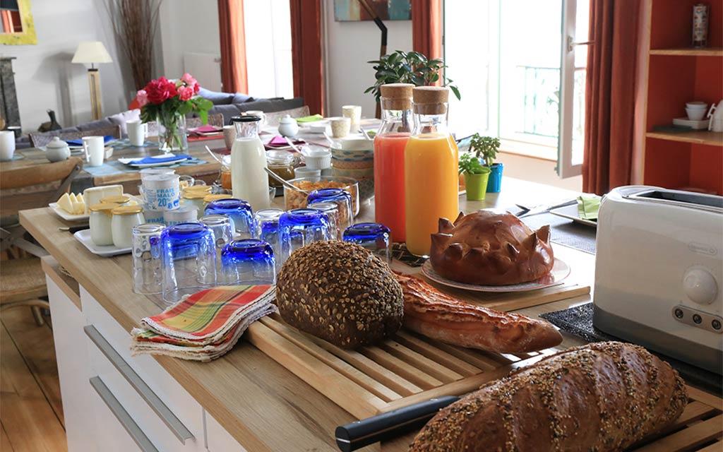 Chambre d'hôtes île de Groix Petit déjeuner